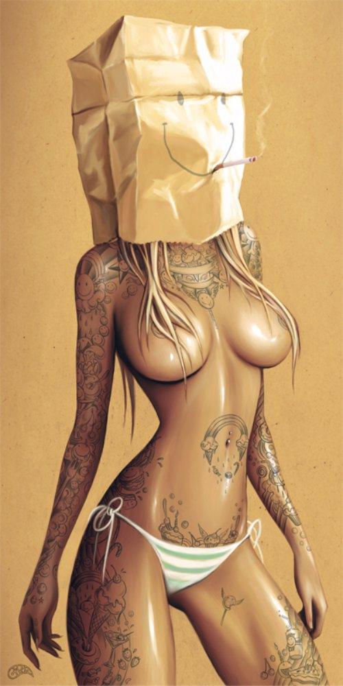 As ilustrações de Gina Kiel mostram corpos femininos e fortes que exalam sensualidade e que exploram a experiência humana através de conceitos de vida e morte, espiritualidade e cultura pop. Tudo isso com uma paleta de cores cheia de vida, composições mínimas e linhas que fluem de um jeito quase orgânico.