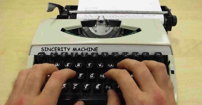 Sincerity Machine Cover