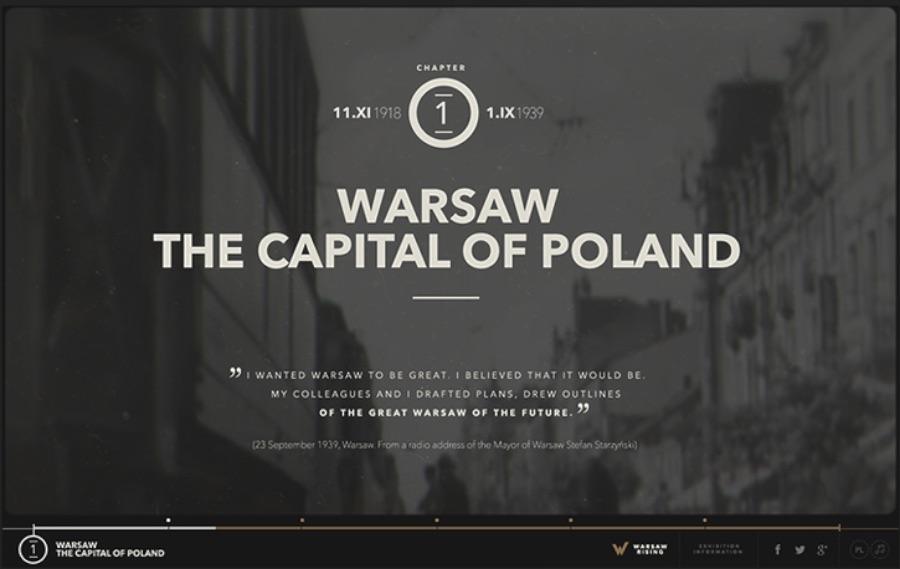 Warsaw Rising é um site educativo que mostra como foi os acontecimentos que acabaram levando a Revolta de Varsóvia em 1944. No site, você aprende como foi que o Exército Clandestino Polonês lutou contra o controle da Alemanha Nazista e o que isso causou a cidade e ao país.