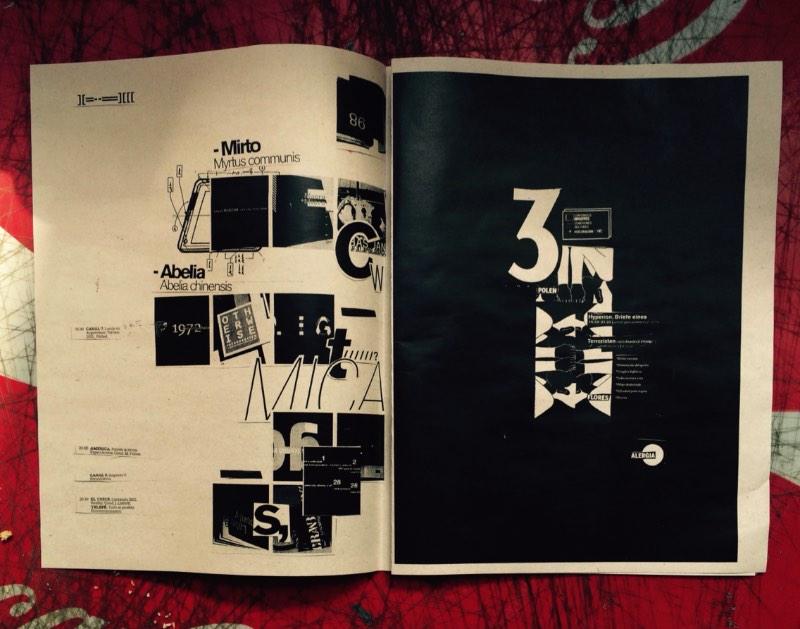 Fanzine Simulado é o nome desse projeto que acabei encontrando no Behance hoje cedo. Esse trabalho da argentina Flora Quiroga tem todos os elementos de design experimental que gosto. Da tipografia até o uso das imagens, gosto bastante do que vejo nesse fanzine e abaixo dá para ver mais.