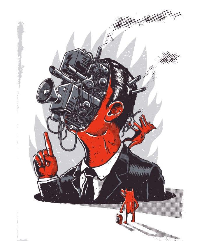 As ilustrações que você vai ver logo abaixo foram feitas em 2015 pelo ilustrador e artista polonês Krzysztof Nowak. Todas elas foram feitas para um projeto pessoal do artista conhecido como MSZZ e elas vão aparecer em camisetas e posters que podem ser comprados online