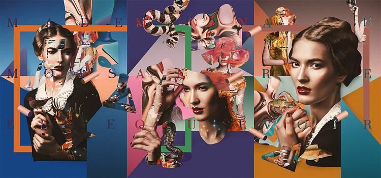 Portrait de Femme é uma série experimental de colagens digitais criada usando vários elementos do Adobe Stock imagens. De vetores a objetos 3D, de texturas a tipografia, passando por todas as imagens de mulheres que você vai ver abaixo. Criação do designer alemão Sebastian Onufszak que já apareceu aqui no blog, pelo menos, algumas vezes.