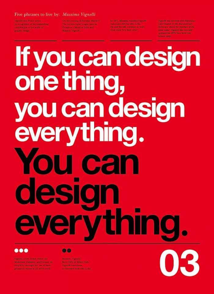 """Quando li o Design in Tech Report do John Maeda há algumas semanas, fiquei me questionando sobre um título que vi por lá que pareceu muito próximo daquilo que faço hoje em dia. Esse título é o dia Computational Designer. E, por mais que eu goste do conceito por trás dele, fico imaginando se não estamos complicando tudo. Afinal, baseado nas palavras de Massimo Vignelli: Se você pode fazer o design de uma coisa, você pode fazer o design de tudo. Livre tradução de """"If you can design one thing, you can design everything."""""""