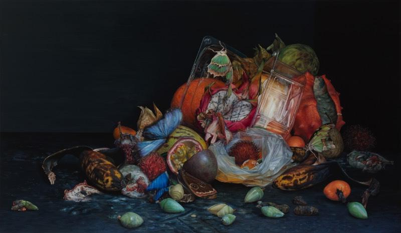 É fácil conectar as pinturas de Cindy Wright com a era de ouro da Arte na Bélgica e na Holanda. Afinal, além de compartilhar a mesma origem geográfica, a artista usa de temas similares aos de Vermeer, van Eyck, Rubens e parece renovar o interesse na natureza morta.