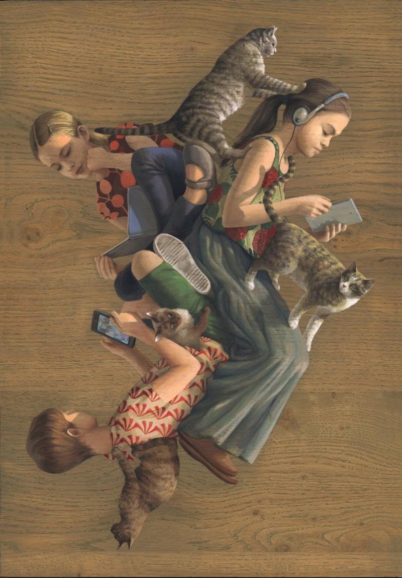 Cinta Vidal Agulló começou a desenhar quando ela era criança. Na sua adolescência, ela passou a levar esse hobby de uma forma mais séria e foi para a Escola Massana de Barcelona. Depois disso, ela passou a trabalhar como aprendiz em uma escola de cenografia. Foi lá que ela foi apresentada a um novo mundo de ilustrações.