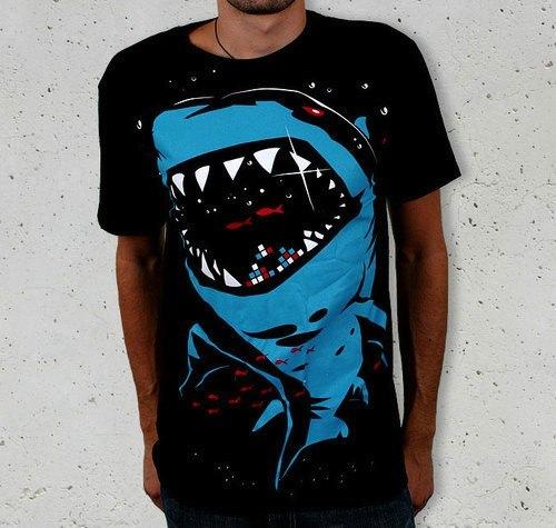 Shark With Pixelated Teeth!