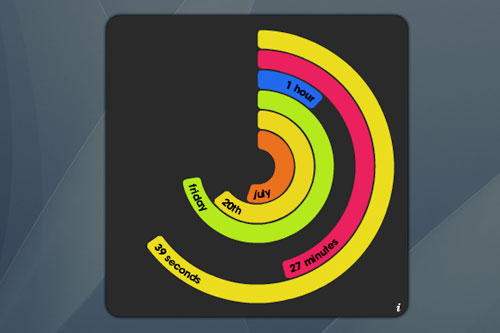 polar clock widget
