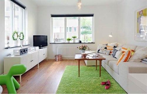 foto de apartamento decorado branco
