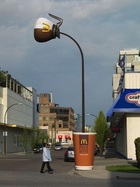 Café de graça no McDonalds