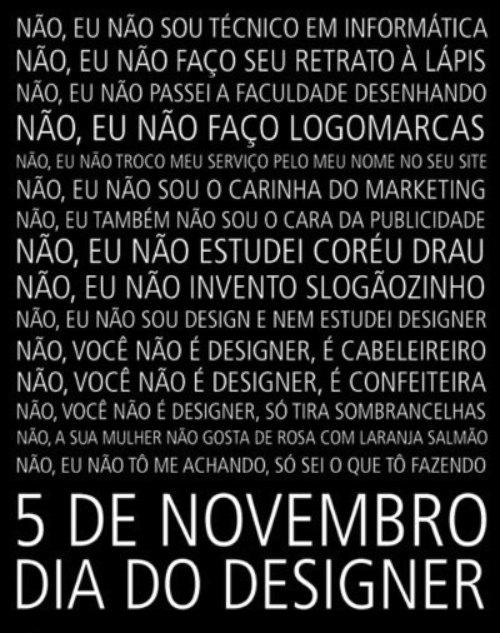 5 de novembro - dia do designer