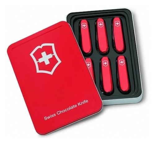 chocolates de canivetes suiços