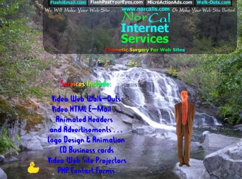 A NorCal faz o seu site ou melhora aquele site que você já tem. Além de que são ótimos profissionais que animam patinhos numa cachoeira.