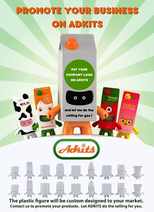 Adkits são toyarts customizáveis para sua empresa vender seu produto de forma simples e direta. Tudo para aproveitar a moda do momento.
