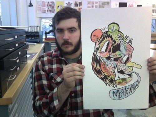 Bill Connors é um ilustrador com um estilo que me lembra um pouco as artes que via nas revistas de skate e nos zines de hardcore no início dos anos noventa.