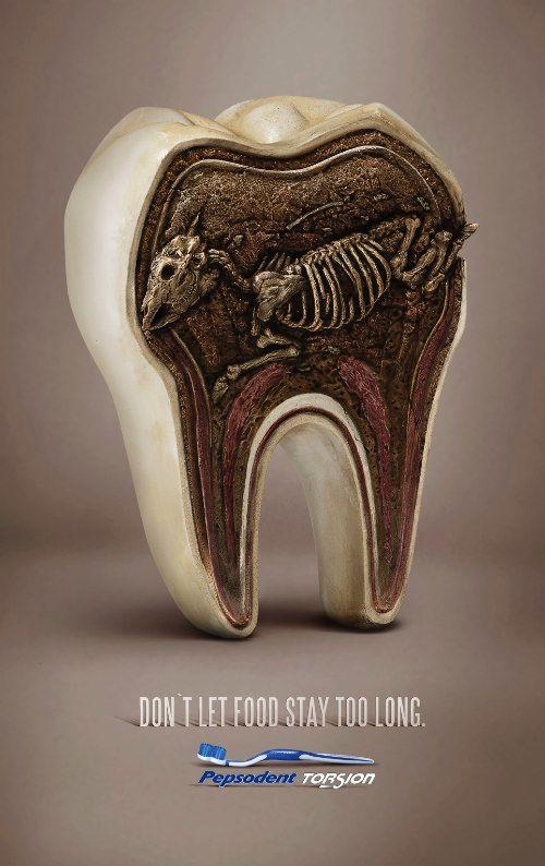 Não deixe a comida ficar muito tempo nos seus dentes