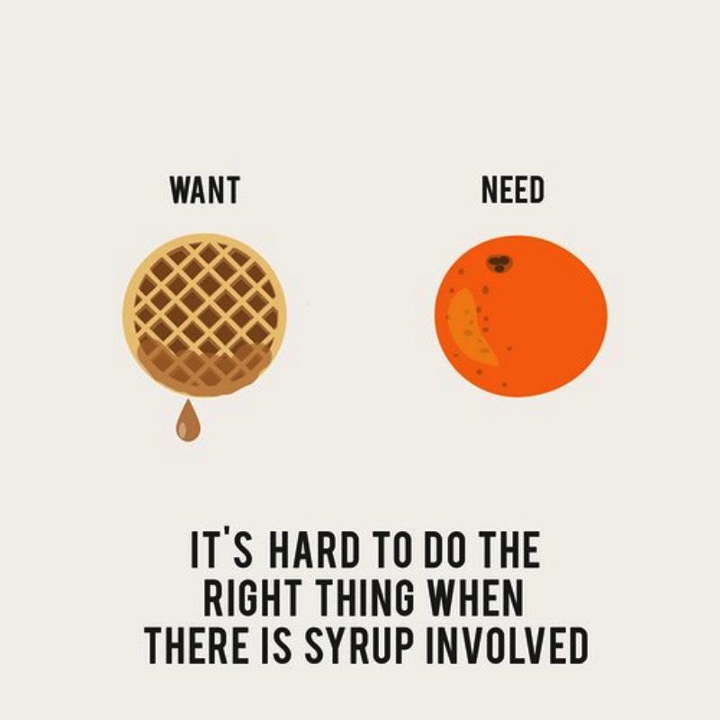 Erin Hanson, o cara que mantem o blog Recovering Lazyholic, parou para pensar na sua vida e criou uma série de ilustrações chamadaOur Wants vs. Our Needs. Nelas o contraste entre o que ele quer e o que ele precisa vivem lado a lado.