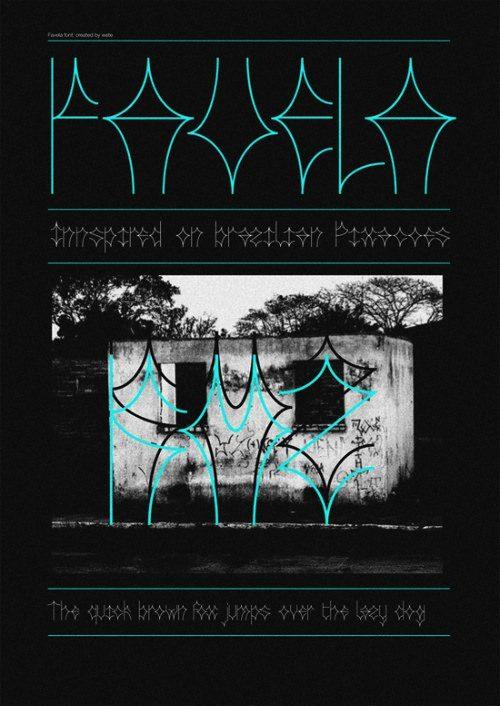 favela   #freefont