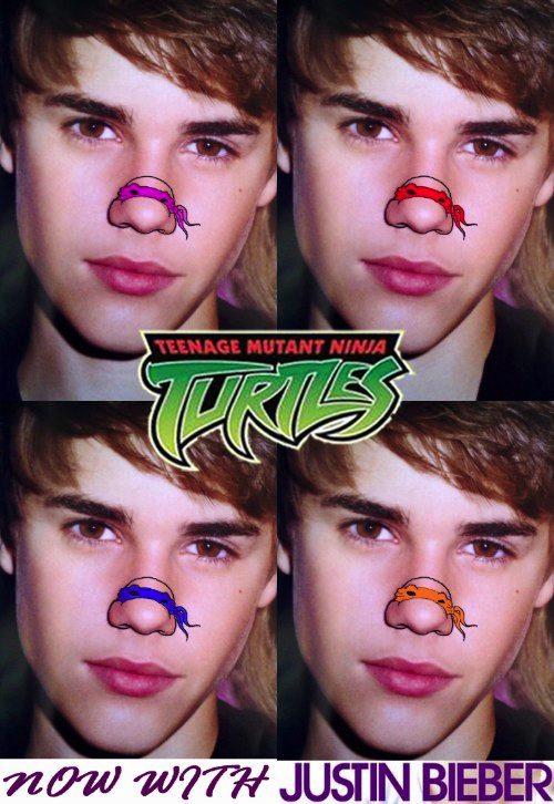 Sabe aquela coisa que sempre esteve na sua frente mas você nunca viu? Foi essa a minha sensação quando vi o tumblr Teenage Mutant Ninja Nosesontem com desenhos de Tartarugas Ninjas em cima do nariz de algumas celebridades. Faltam sub celebridades brasileiras nesse tumblr.