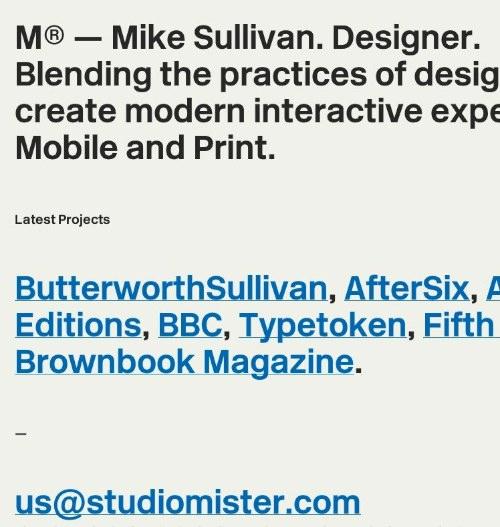 Studio Mister-Mike Sullivan