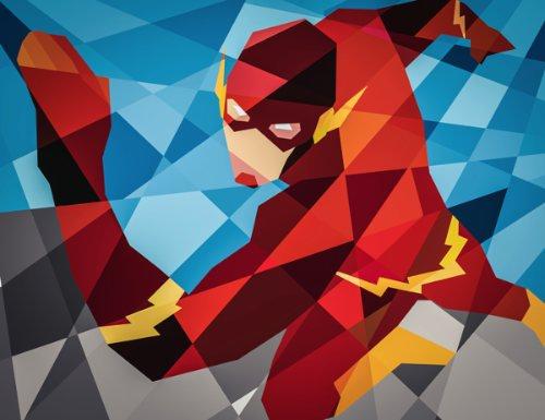 Quando me deparei com as interpretações de heróis da Marvel e da DC Comics pelo ilustrador Eric Dufresne, o que eu mais gostei foi a forma com a qual os desenhos acabam parecendo mosaicos digitais ultra coloridos. A forma com a qual ele consegue transformar desenhos complexos em linhas retas e simples é o que mais me causou inveja.