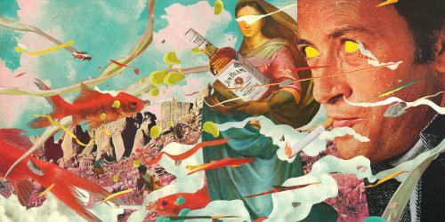 André Bergamin é um artista visual e ilustrador lá de Porto Alegre, no sul do Brasil. Seu portfólio é repleto de belíssimas ilustrações que misturam colagens digitais com estranhas ilustrações.