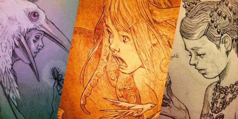 Chiara Bautista é o nome da enigmática artista do Arizona que cria as ilustrações que você pode ver nesse post. Ilustrações essas que são cheias de simbolismo e vem com formas de cefalópodes, veados, feridas e outros elementos que podem representar tanto um amor obsessivo quanto um vício. Tudo depende de como você enxerga isso.