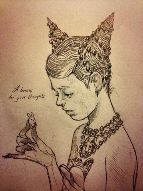 Chiara Bautista é o nome da enigmática artista do Arizona que cria as ilustrações que você pode ver nesse post. Ilustrações essas que são cheias de simbolismo e vêem com formas de cefalópodes, veados, feridas e outros elementos que podem representar tanto um amor obsessivo quanto um vício. Tudo depende de como você enxerga isso.