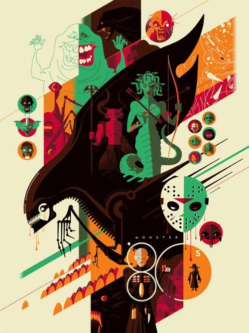 Na hora que eu vi esse poster da Pequena Sereia, fui obrigado a sair procurando mais sobre o trabalho de ilustração e posters do Tom Whalen. Encontrei vetores minimalistas cheios de referências a cultura pop dos anos oitenta e noventa.