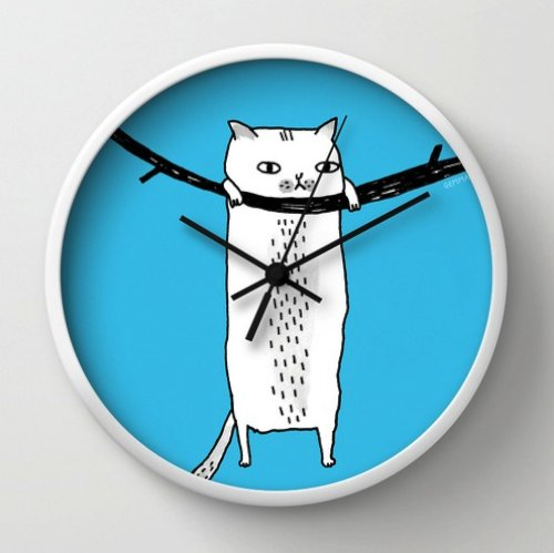 Hang in There, Baby Wall Clock by Gemma Correll | Society6