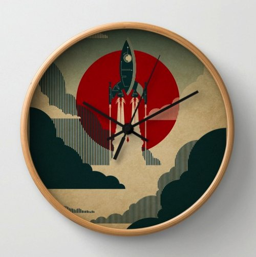 The Voyage Wall Clock by Danny Haas | Society6