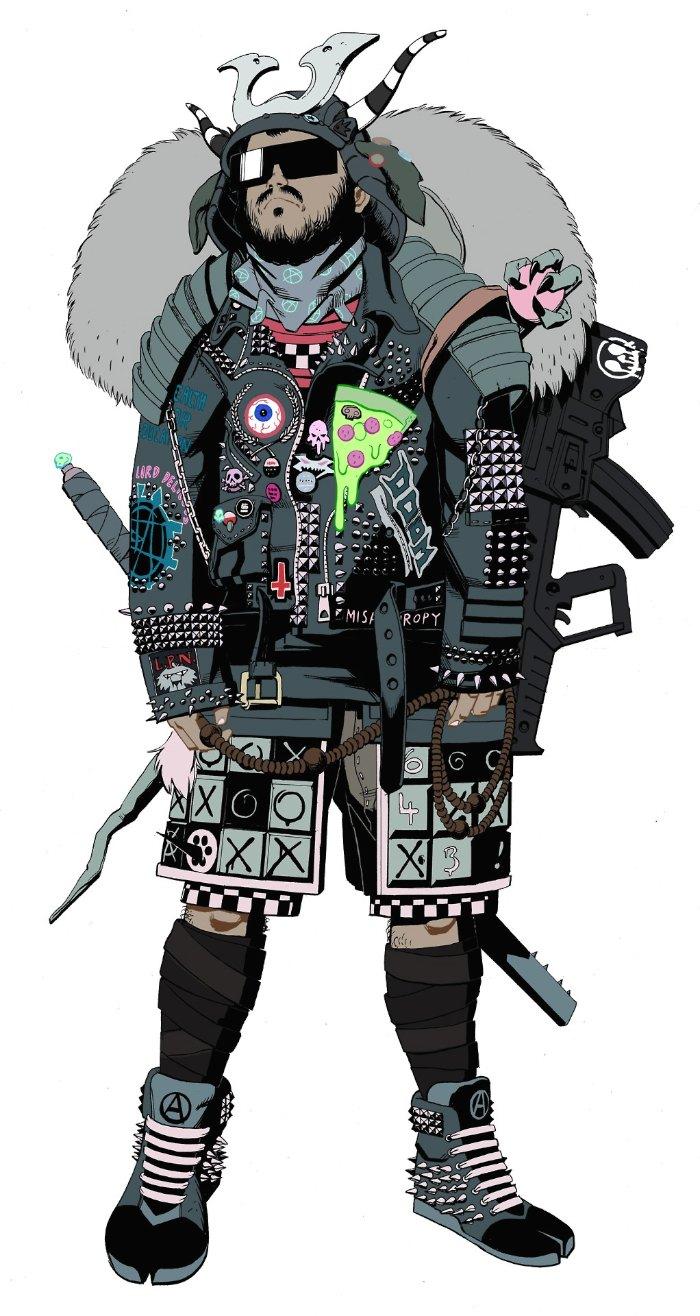 James Harvey tem um estilo de ilustração que me lembrou muito o que o Jamie Hewlett fazia para a Tank Girl. Mas o estilo dele não fica limitado a isso. Dá para ver referências de anime e manga somado a uma dezena de outras linhas visuais mais modernas. O que eu posso dizer é que adorei o trabalho do James Harvey.
