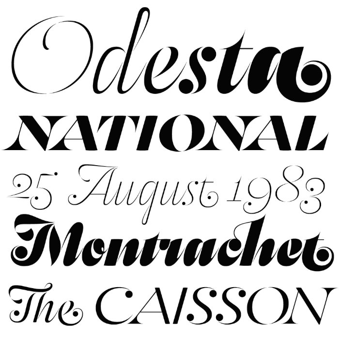 Odesta   Typeface Review   Typographica