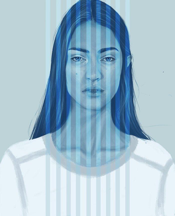 Kemi Mai é uma artista auto didata britânica que, armada com o Photoshop e um tablet, criou essas imagens abaixo. Suas ilustrações mostram mulheres contra fundos minimalistas que absorvem e incorporam elementos surreais e abstratos em cores vivas.