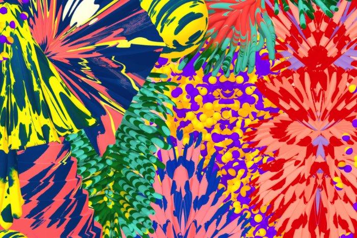 Santtu Mustonen é um artista interessado na criação de imagens contemporânea, direção de arte e em cores. Gosto muito da forma com a qual ele trabalha com patterns e com a criação de imagens ultra complexas e coloridas.