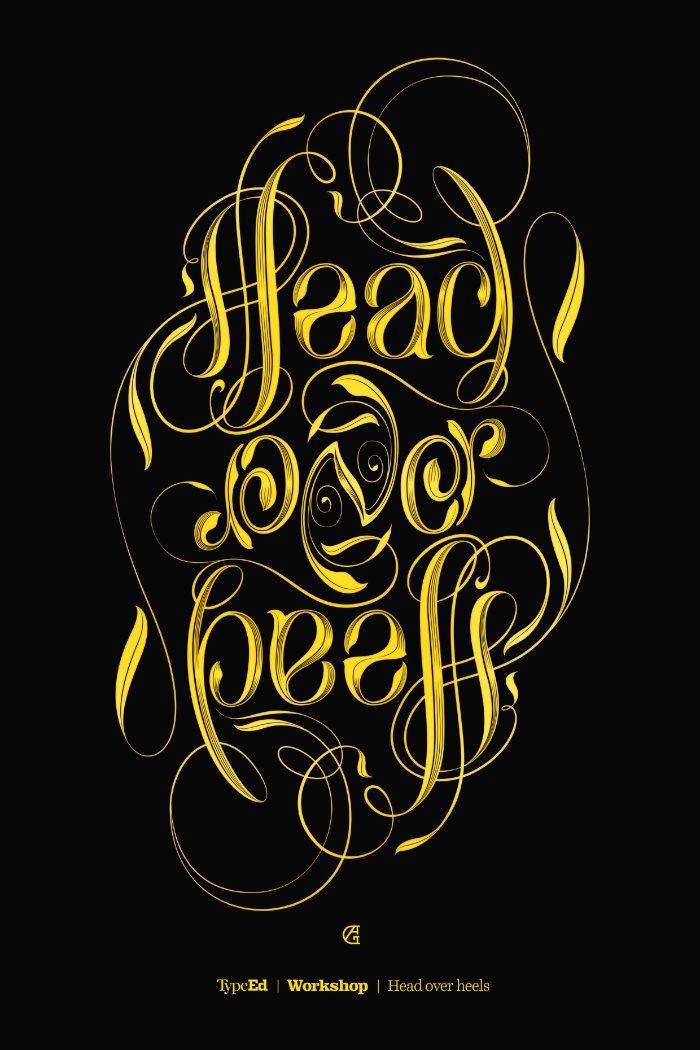 Head over heels - Ambigram Workshop Identity 01