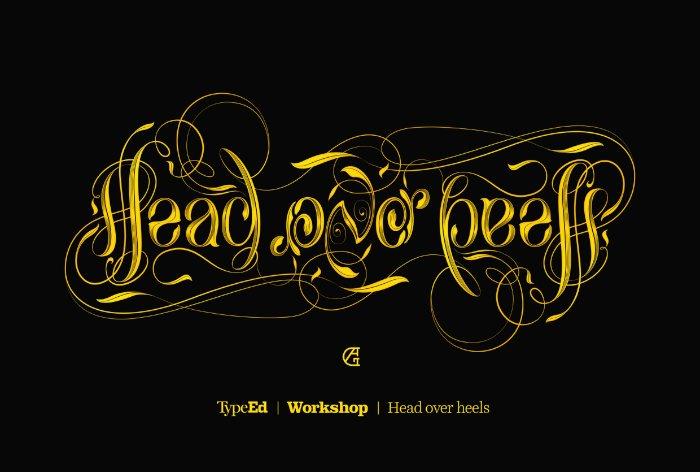 Head over heels - Ambigram Workshop Identity 05