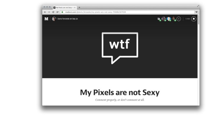 My Pixels are not Sexy