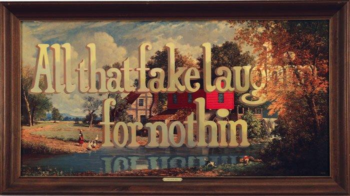 Wayne White é um artista americano que trabalha com ilustração, direção de arte e muito mais. Ele nasceu em Chattanooga e usa suas memórias do sul americano para criar seus trabalhos para cinema, televisão e sua arte. Recentemente, Wayne White atingiu um grande reconhecimento através das imagens que você pode ver nesse post. São pinturas onde enormes textos tridimensionais fazem parte de paisagens. Eu gosto bastante.