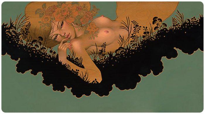 Um dos pontos que mais gosto no trabalho da Audrey Kawasaki acaba sendo meio contraditório. Digo isso já que enxergo nas suas pinturas um lado erótico e, ao mesmo tempo, inocente. Cada pintura parece ter sido feita para ser atraente de um jeito quase perturbador.