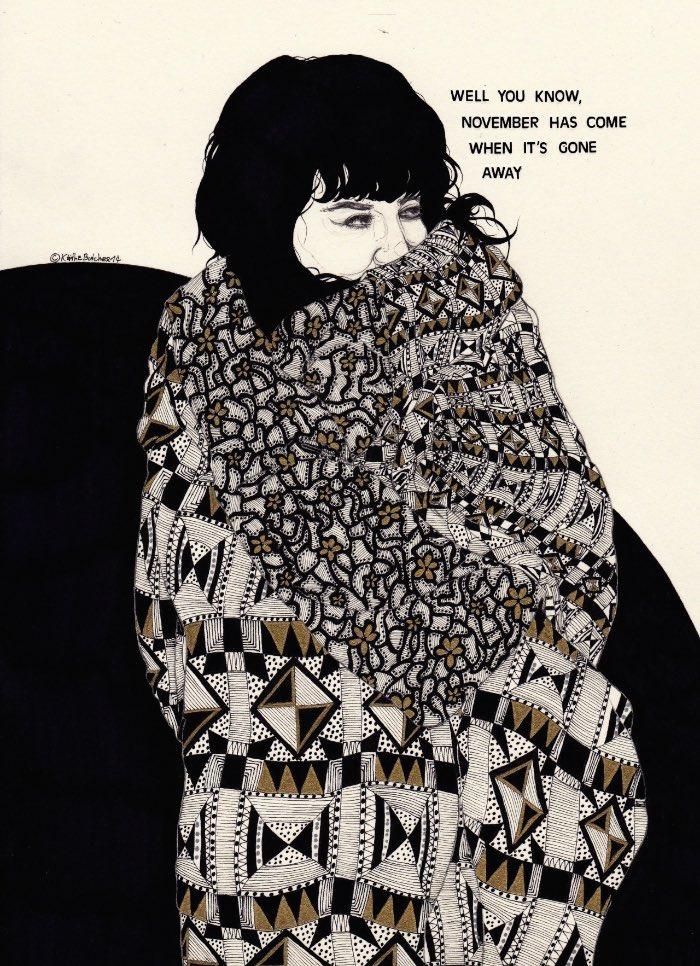 Desconhecia o trabalho de Kaethe Butcher mas me tornei fã dela quase que instantaneamente. Ela tem 24 anos, mora em Berlin e suas ilustrações parecem quase que diários visuais do dia a dia dela.
