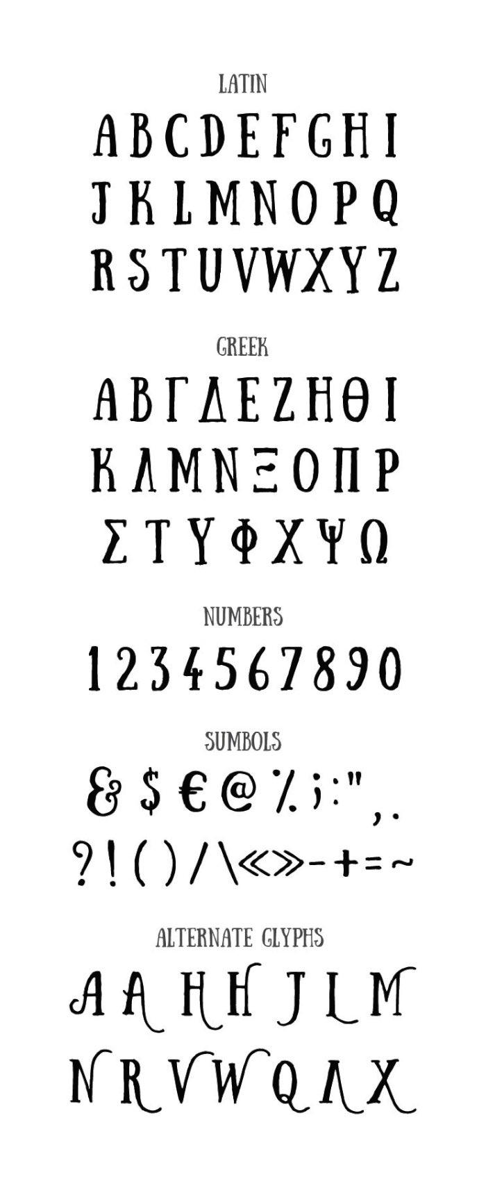 Anastasia Dimitriadi sempre gostou de ilustrações e de tipografia mas sempre considerou que nunca criaria algo usando essas duas técnicas. E a última coisa que ela pensaria em fazer era criar uma fonte mas foi isso que ela fez com Sunday font.