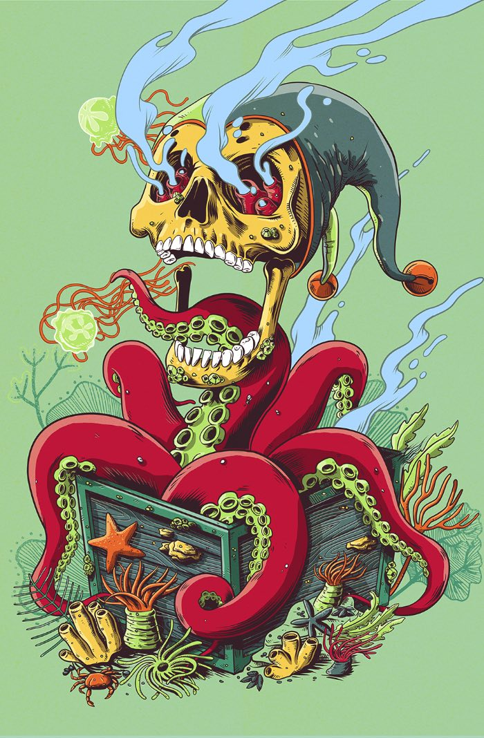 Pedro Correa é um ilustrador freelancer lá de Florianopólis que estudou Design Gráfico da Universidade do Estado de Santa Catarina e acabou caindo no mercado de ilustração.