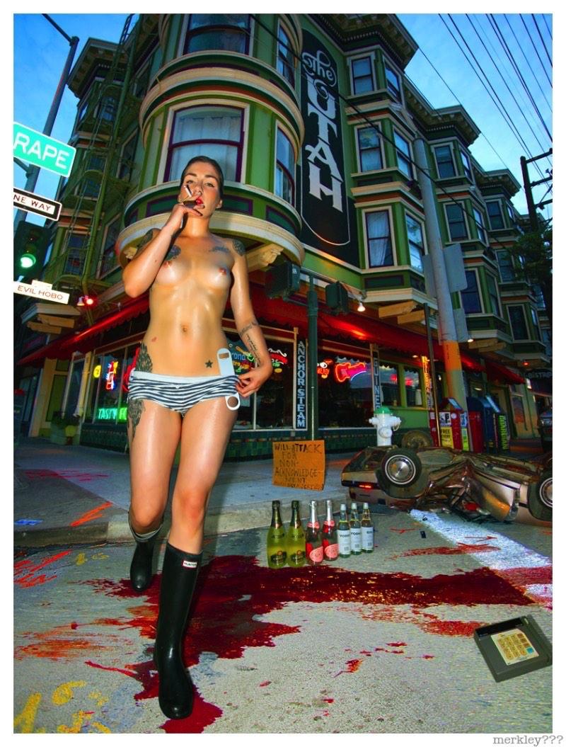 Sou fã do estranho trabalho de fotografia do Merkley desde quando descobri seu flickr lá em meados de 2007. E, desde então, gosto de voltar a seu portfolio algumas vezes por ano na tentativa de enxergar alguma coisa a mais em todas as imagens que ele criou.