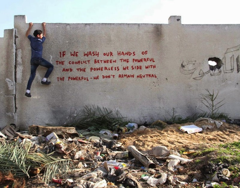 Banksy visita Gaza 01