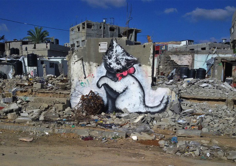 Banksy visita Gaza 02