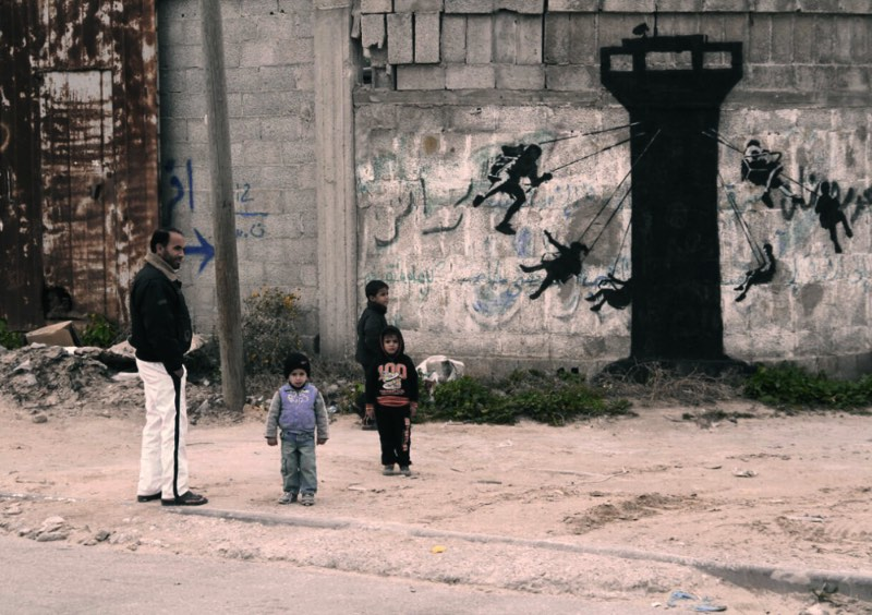 Banksy visita Gaza 03