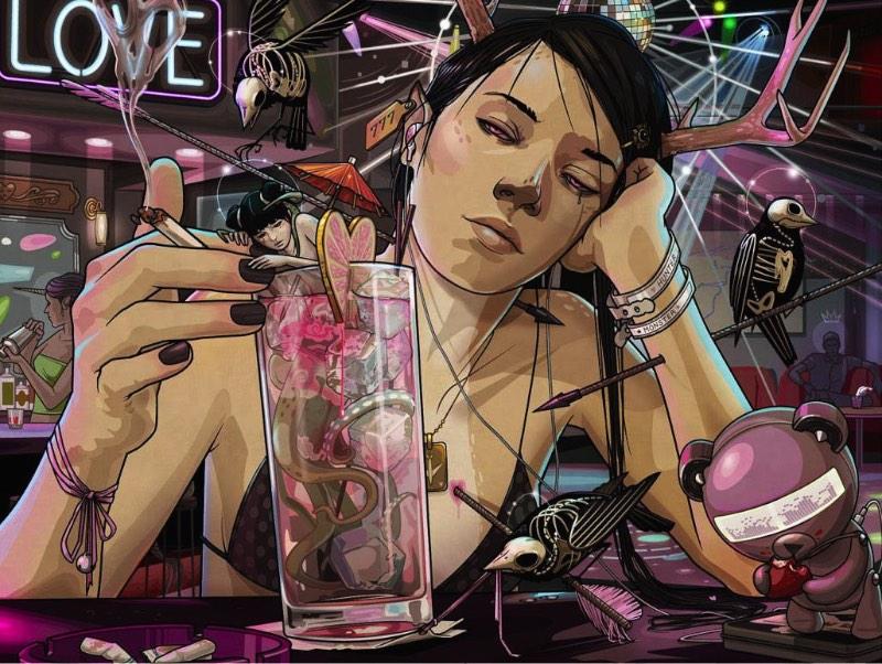 Chiara Bautista é o nome da enigmática artista que cria as ilustrações que você pode ver nesse post. Sua arte é diferente e ela é feita por todos os motivos certos e nenhum dos errados. Ela não cria sua arte para a gente, ela cria sua arte numa espécie de conversação entre ela e sua musa, Ilka. E, nós ficamos aqui observando como essa conversa evolui.