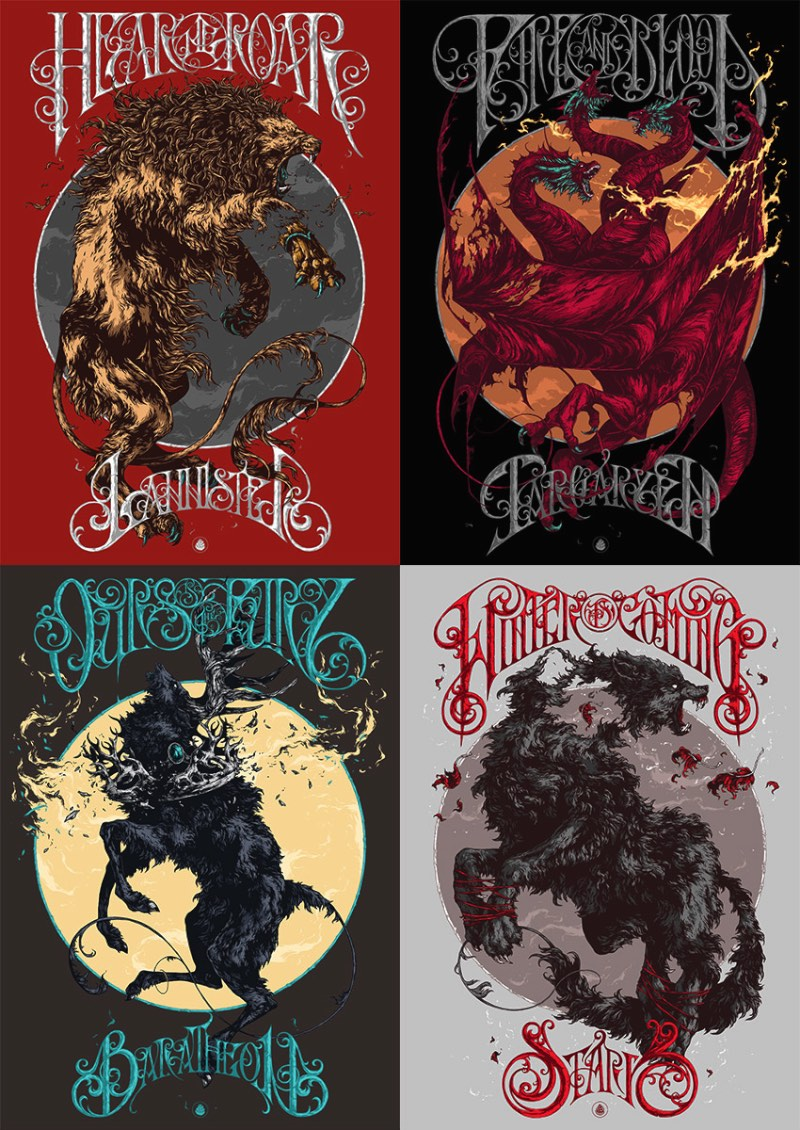 Posters de Game of Thrones: A Criação de Ivan Belikov