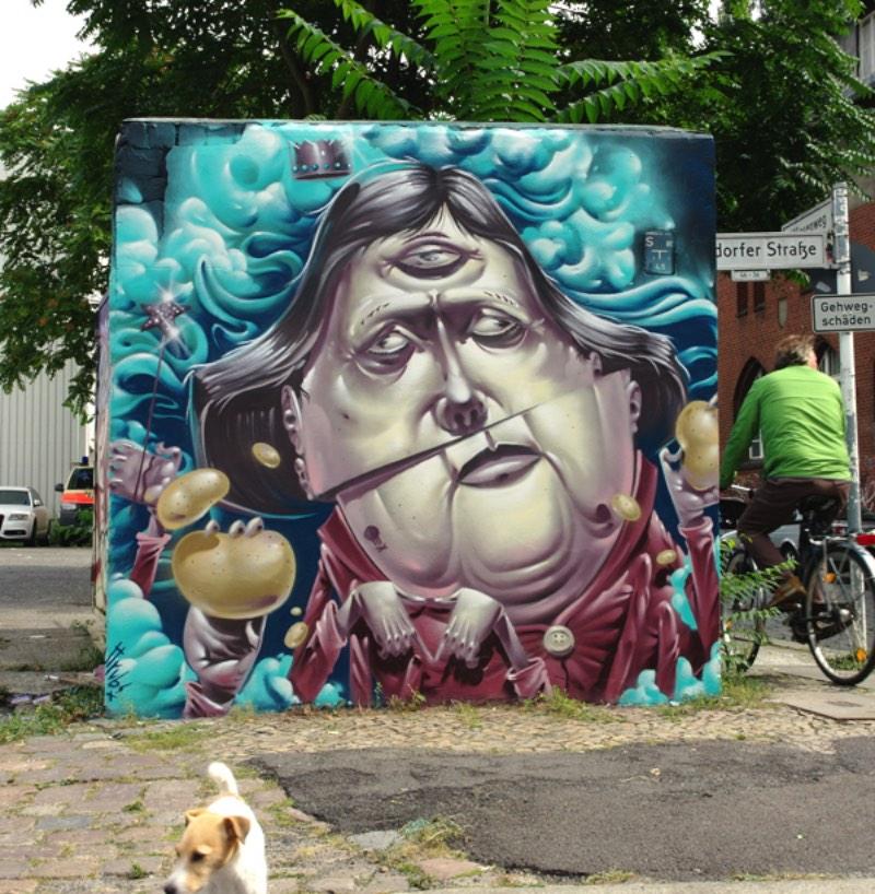 HRVB é um dos nomes que o artista e ilustrador alemão, também conhecido como, Herr Von Bias é conhecido pelas ruas de Berlim.