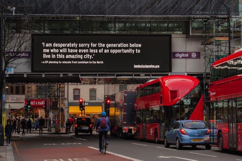 London is Changing - um projeto para dar voz a quem anda sendo expulso de Londres